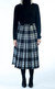 All-round Pleated Skirt, tartan
