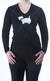 Ladies Luxury Cashmere Scottie Dog V-Neck Sweater